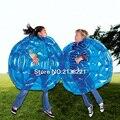 2 Unids/set 90 cm Gaint Azul Cuerpo Inflable bola de Parachoques Para Niños Niñas Escuela de La Familia Juego de Los Niños Al Aire Libre Juguetes Deportivos De Sumo parachoques