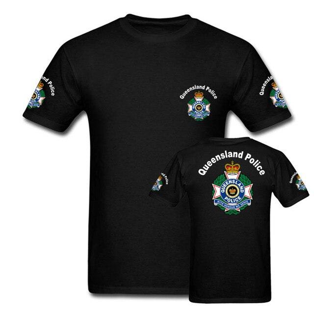 Queensland Police T Shirts Mens Australia Short Sleeve Tees Custom Men Hip  Hop Streetwear Tops Brand Clothing tshirts c1f51221ccdd