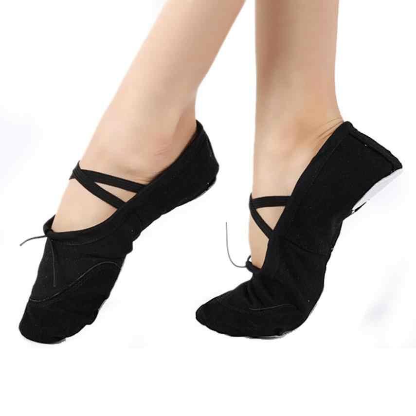 חם למכור למבוגרים בד בלט ריקוד נעלי התעמלות לנשימה רך 5 צבעים לבחור גודל 36-40 0815