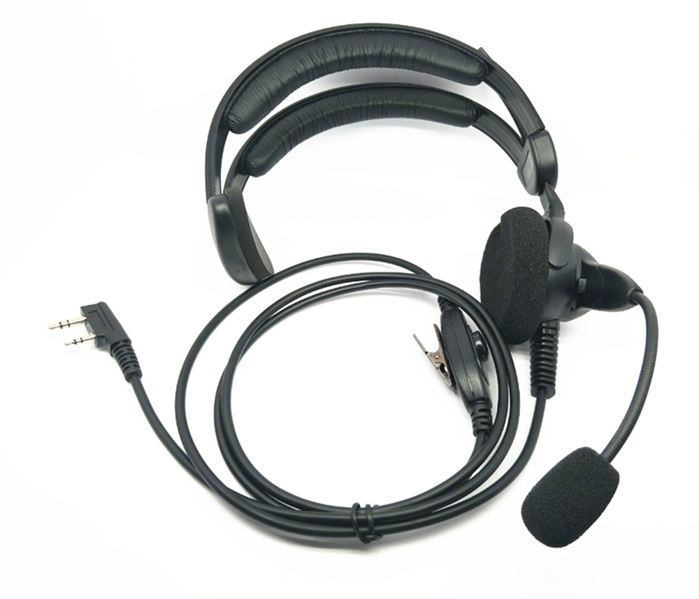 OPPXUN 2 Pin PTT Microfono Auricolare Cuffia Microfono per Kenwood Baofeng UV-5R UV5R GT-BF Walkie Talkie CB Radio