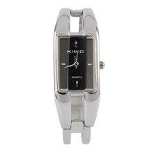 Alloy Case Bracelet Black Dial Fashionable Silver Style Ladies Quartz Watches
