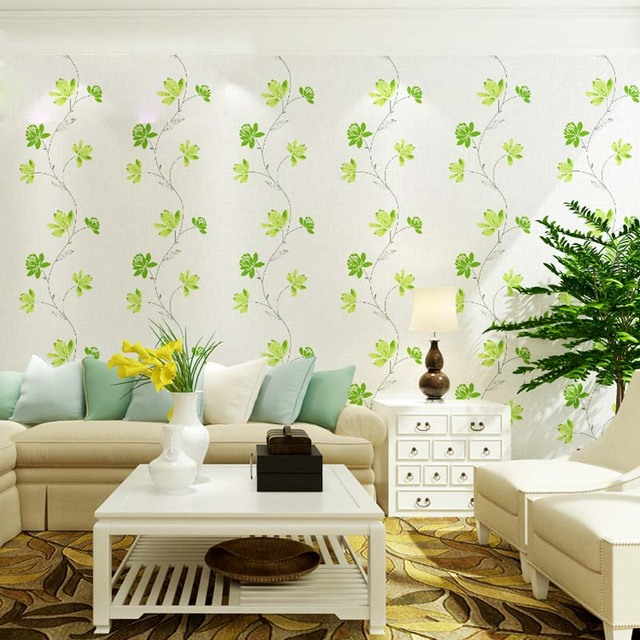 3D Modern Wallpapers Home Decor Flower Wallpaper Green Red Floral Wall  Paper Roll For Walls ,