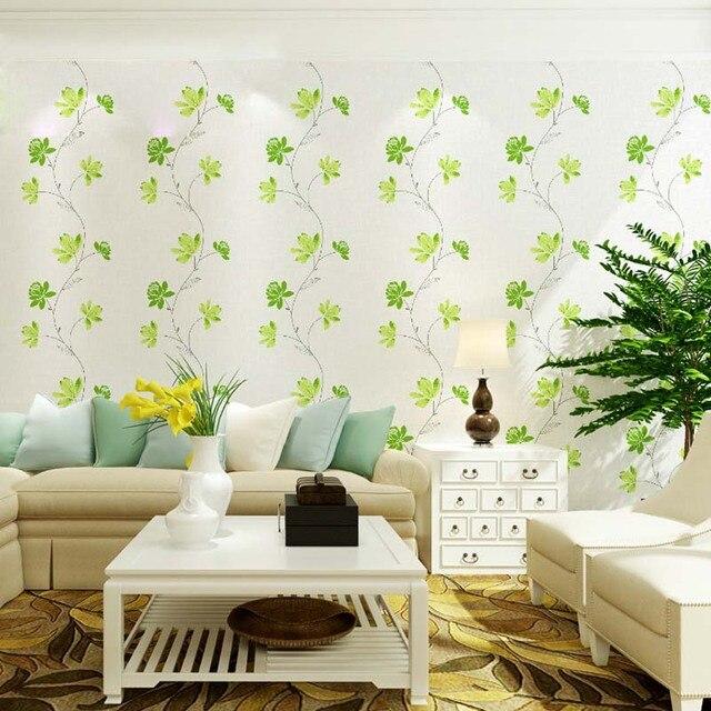 3d Moderne Tapeten Wohnkultur Blume Tapete Grün Rot Floral Wand