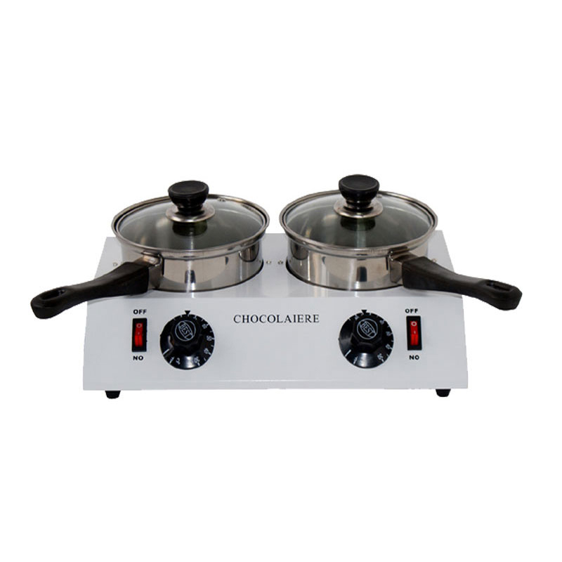 Hot sales Food Processor Chocolate melting machine Chocolate melting pot 2 pots Free Shipping To Some Country fast shipping food machine digital chocolate melting machine stainless steel chocolate machine household and commercial