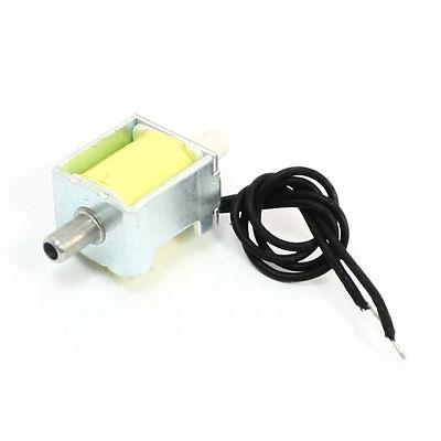 3mm to 3mm Tube Gas Valve Solenoid Electromagnet DC 5V 0.4-0.5kgf/cm2