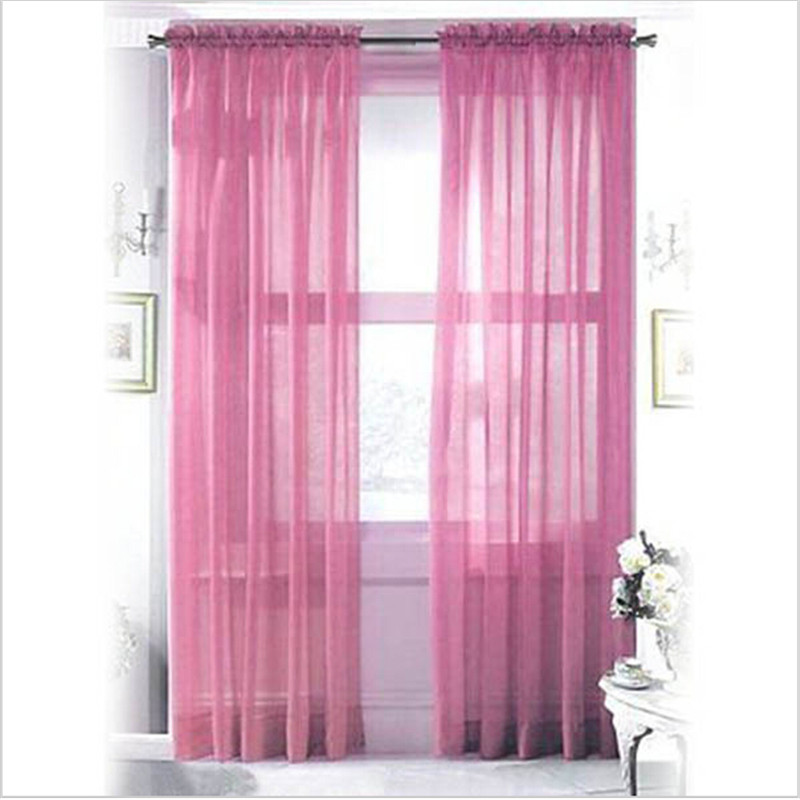 Attractive 2*1m Tulle Curtains Door Window Panel Curtain Pure Color Chiffon Curtain  Home Window Wedding Decoration For Bedroom In Curtains From Home U0026 Garden  On ...