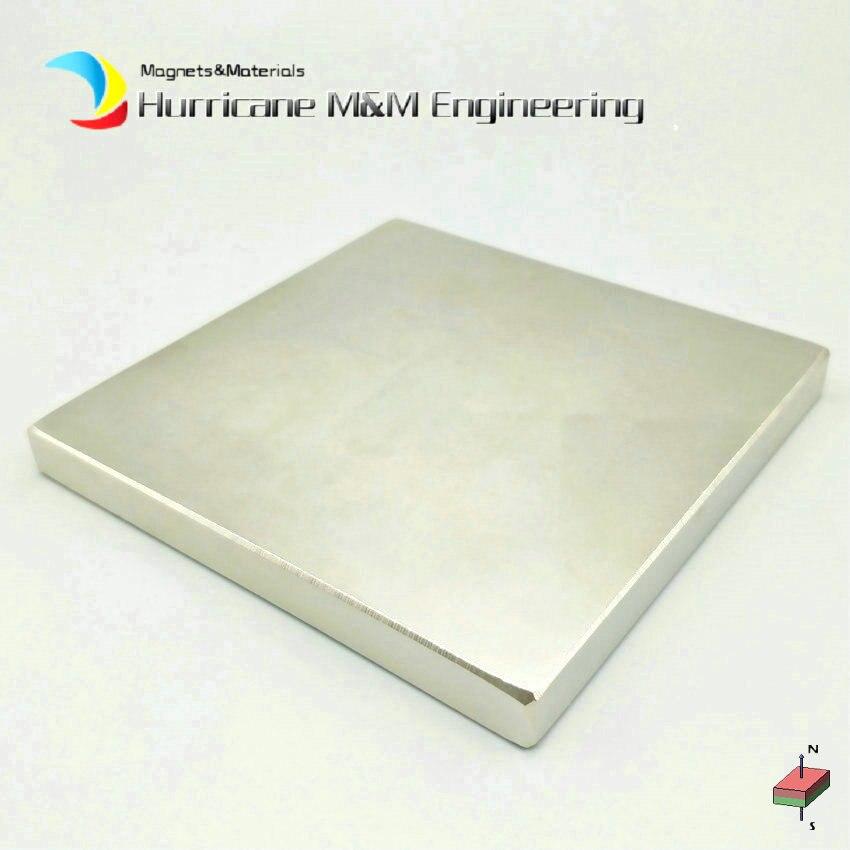 1 pz Super Forte Magnete di NdFeB del Blocco di circa 100x100x10 millimetri di Grandi Dimensioni Piatto Permanenti Al Neodimio Terre Rare industria Magnete NiCuNi