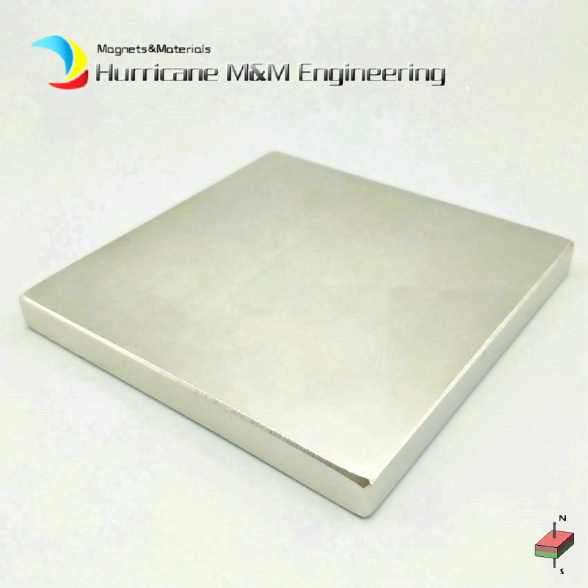 1pc Super Strong Magnet NdFeB Block about 100x100x10 mm Large Plate Neodymium Permanent Rare Earth Industry Magnet NiCuNi