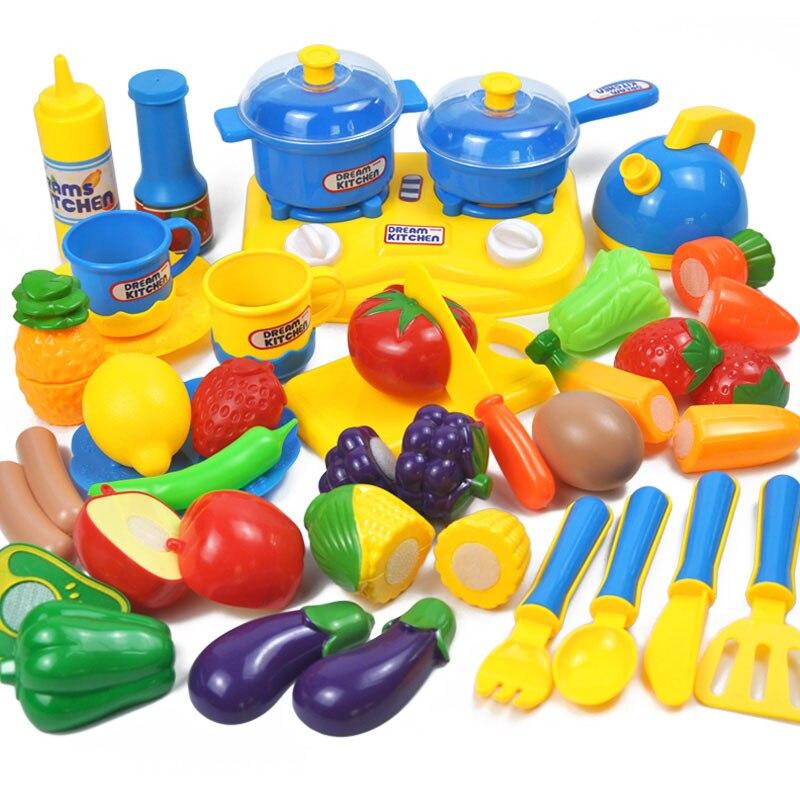 34 juegos de cocinas para niños jugar juguetes de casa frutas y - Juguetes clásicos - foto 4