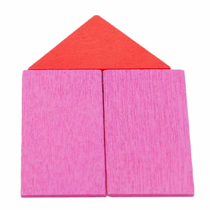Juguetes de madera de Color Circular de matemáticas para bebés Montessori juguete educativo para niños Figura de madera aritmética