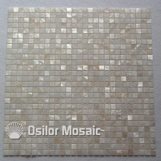 Natürliche 100% Weiß Chinesische Süßwasser Shell Perlmutt Mosaik Fliesen  Für Badezimmer Dekoration 10x10mm Chipgröße