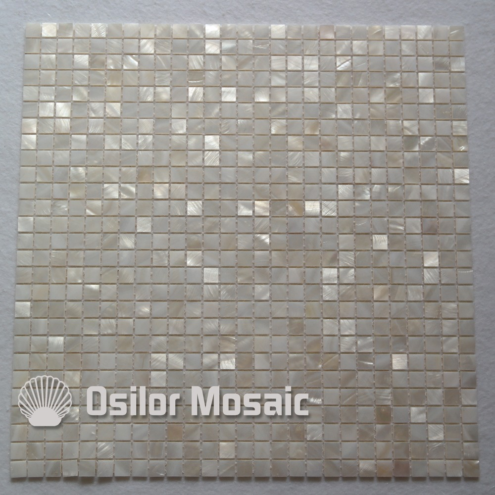 Natural 100% white Chinese freshwater shell mother of pearl mosaic tile for bathroom decoration 10x10mm chip size wall tile environmentally friendly pvc inflatable shell water floating row of a variety of swimming pearl shell swimming ring