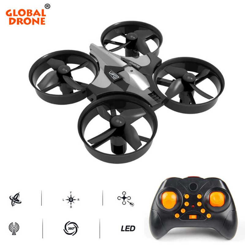 Глобальный Drone микро-Дрон один ключ возврата вертолет 6 оси гироскопа Безголовый режим мини дроны Квадрокоптер игрушки для детей