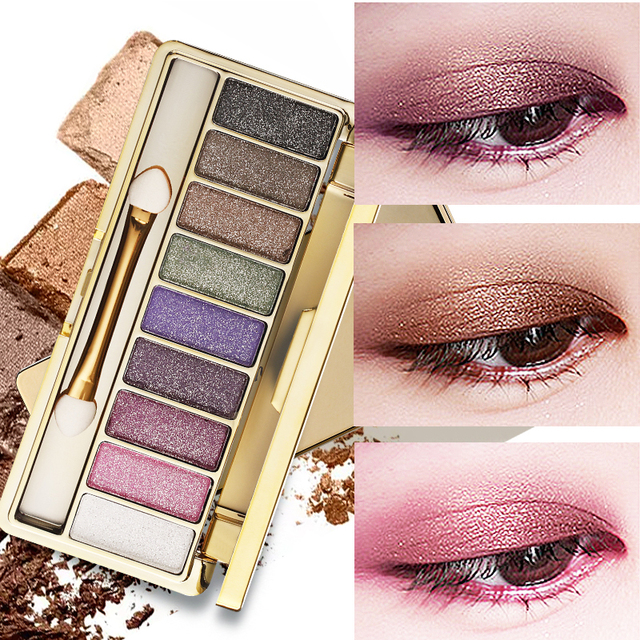 9 Colors Professional Eye Shadow Smoky Eyeshadow Palette Maquillage Long Lasting Waterproof Diamond Bright Eye Makeup 1