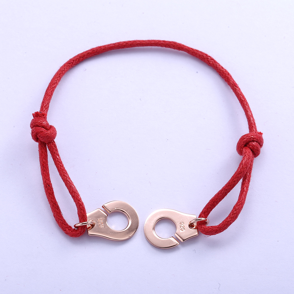 Handcuff Bracelet Trendy Symbol Style 925 silver Bangle for Women iGeAX