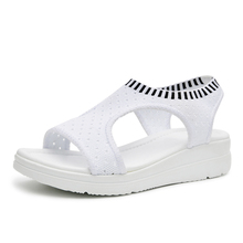 New fashion women sandals summer new platform sandal shoes breathable comfort shopping ladies walking shoes white black