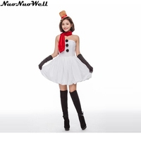 Women's Lovly Snowman Dress Animal Role Playing Christmas Outfit Evening Party Performance Costumes Christmas Santa Suit