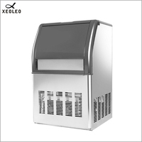 XEOLEO Automatic Ice maker 15kg storage Ice Making Machine Ice Maker automatic add water 44 pcs/18 min For Lab/Coffee shop
