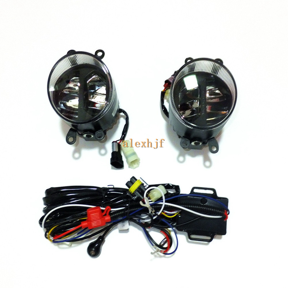 Yeats 1400LM 24W LED Fog Lamp, High beam Low beam+560LM DRL Case For Toyota Verso Matrix Tacoma Hiace, Automatic light sensitive