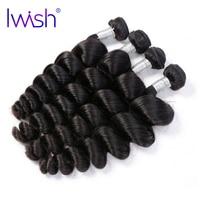Iwish Loose Wave Hair Brazilian Remy Hair Natural Black Color 100 Human Hair Weave Bundle 1
