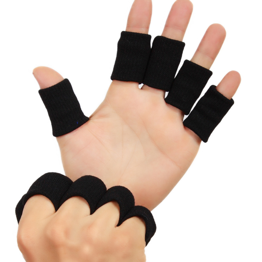 Brilliant 1pcs Basketball Volleyball Sports Finger Armfuls Knitted Finger Joints Slip Elastic Fingerstall Caps Protective Pad Black Hot! Mail & Shipping Supplies