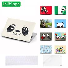 LoliHippo Panda Series Laptop Protective Case for Apple Macbook Air Pro 11 12 13 15 Inch Notebook Cover for A1989 A1708 A1502