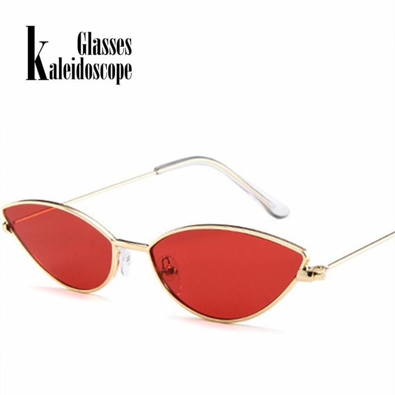 662ec72075 Kaleidoscope Glasses Women Cat Eye Sunglasses Cute Sexy Brand Designer  Summer Retro Small Frame Black Red