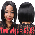 Promotional Products Synthetic Black Short Wig Synthetic Wigs for Black Women Short Straight Bob Wig Cheap Bob Cut Wigs