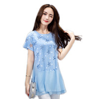 Spring And Summer Large Size Women Loose Short Sleeved T Shirt Was Thin Printing In The