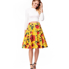 0e81304d04 Tal vez U casual elegante flor floral vestido de rodilla longitud imperio  cintura alta amarillo púrpura