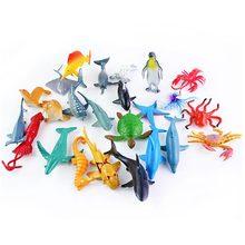 5 sztuk Sea Life Model zabawki symulacyjne basen zabawka ryba ryba miniaturowa wczesna edukacja figurka zwierzęcia morskiego prezent dla dzieci