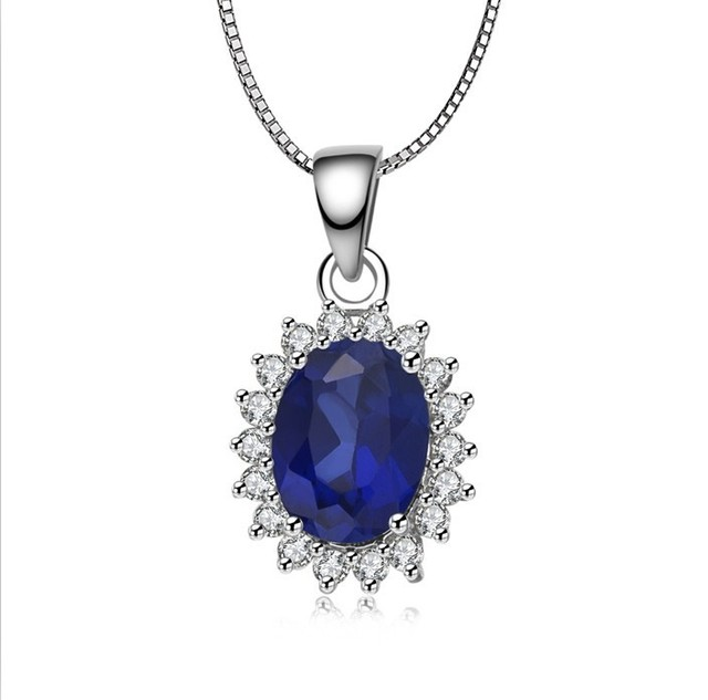 Bijouterie noble sapphire bridal wedding simulate gemstone pendant bijouterie noble sapphire bridal wedding simulate gemstone pendant wholesale sterling silver 925 charms jewelry for women aloadofball Gallery
