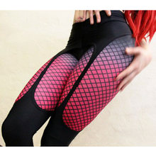 Sexy Printed leggings Women Fitness clothing Booty Push Up Garter Pattern Leggins Sporting Trousers