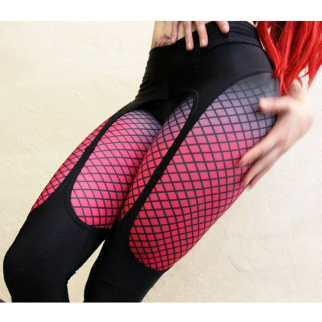 008eed558d2d40 Sexy Printed leggings Women Fitness clothing Booty Push Up Garter Pattern  Leggins Sporting Trousers