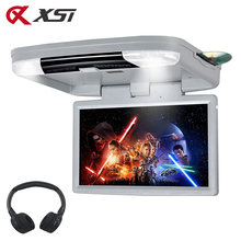 XST 15,6 Zoll Auto Decke Flip Unten Dach Monitor MP5 DVD-Video-Player Gebaut in IR FM Sender HDMI Port USB SD Spiel Remotel(China)
