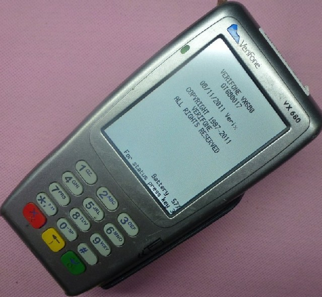 Free shipping (Chinapost) Used Second hand Verifone pos