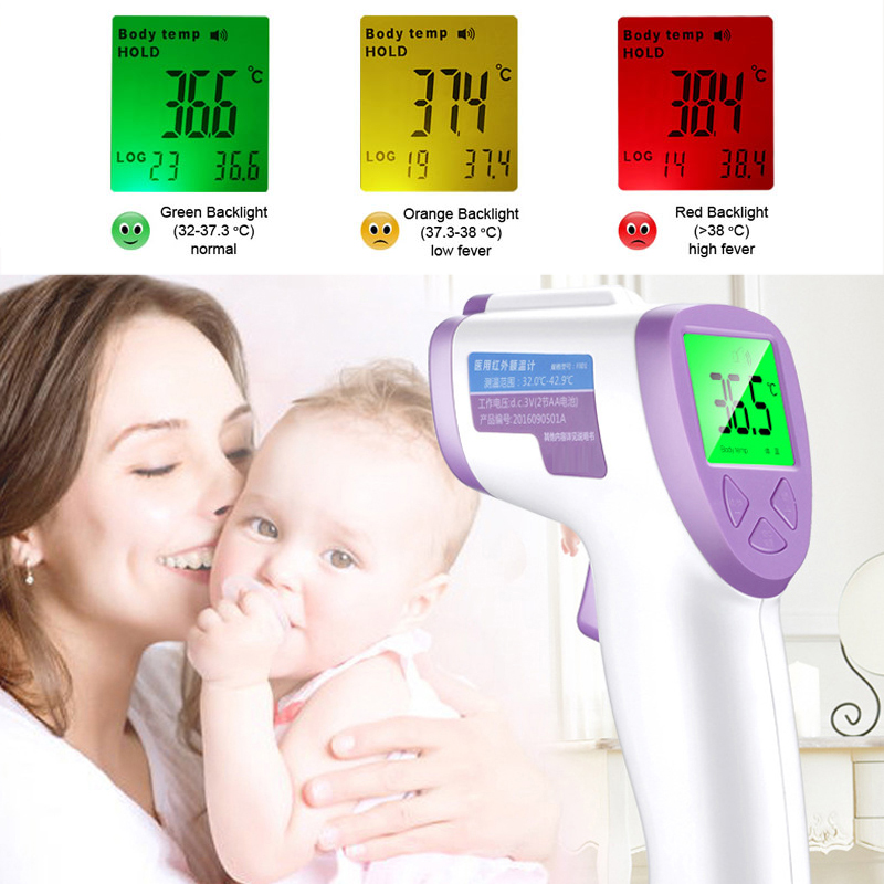 Thermometer Baby Care Digital Infrared Electronic Infrared Body Thermometer LCD Backlight Non-contact Thermometer