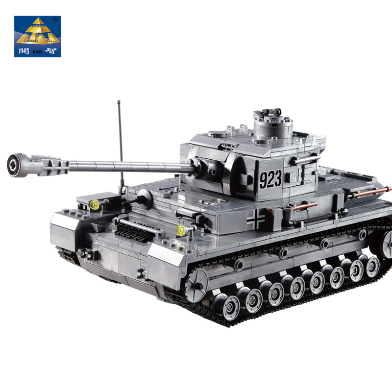 KAZI Large Panzer IV Tank 1193pcs Building Blocks Military Army Constructor set Educational Toys for Children Compatible 128pcs military field legion army tank educational bricks kids building blocks toys for boys children enlighten gift k2680 23030