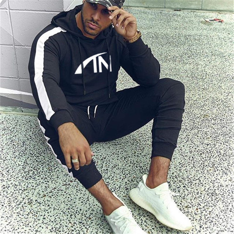 Image 2 - FRMARO 2019 Autumn brand sporting suit men Suit Men Hoodies Sets Mens Gyms Sportswear Jogger Suit Male Tracksuit sets-in Men's Sets from Men's Clothing