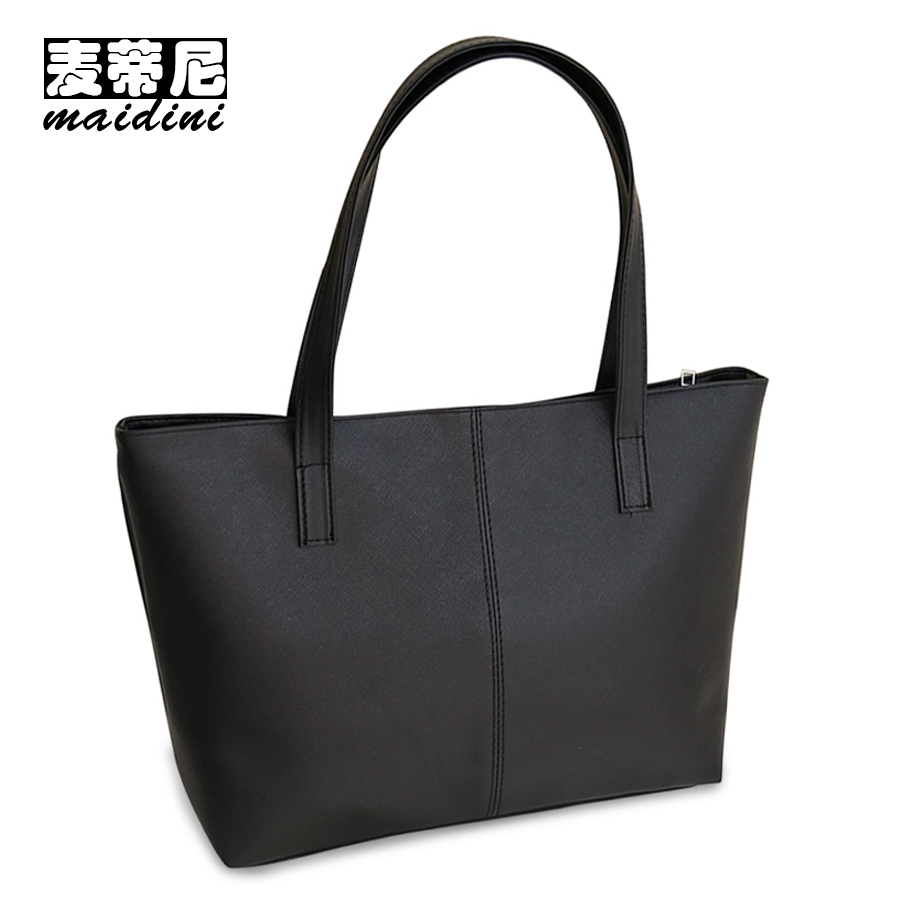 PU Leather Women Handbags Female Fashion Simple Soft Tote Bag Large Capacity Shoulder Bags Black Red Ladies Casual Shopping Bags wholesale blanks pu faux leather handbags casual tote bag large capacity square satchels bag dom1038113