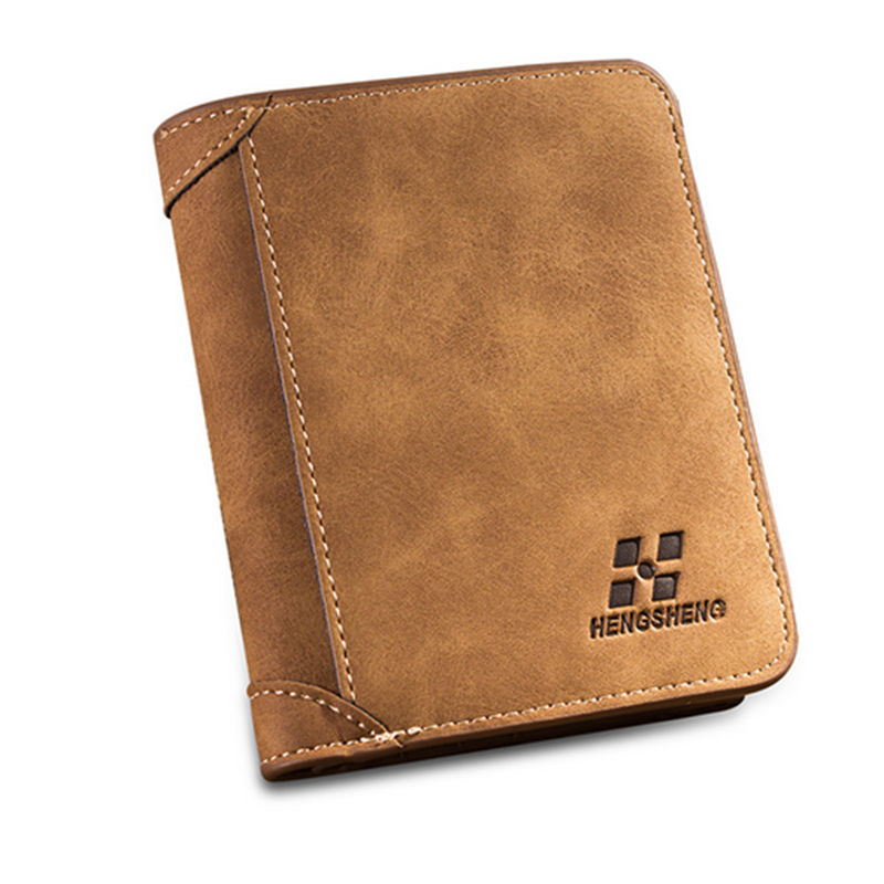 2019 New High quality men's retro matte PU leather men Wallets