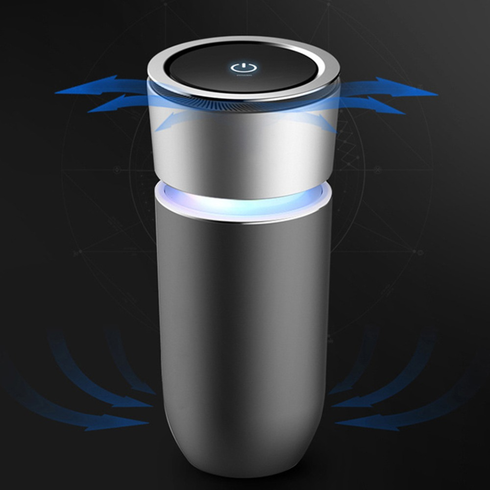 Car Air Purifier 12V Negative Ions Air Cleaner Ionizer Air Freshener Auto Mist Maker Pm2.5 Eliminator Cup Car Charger