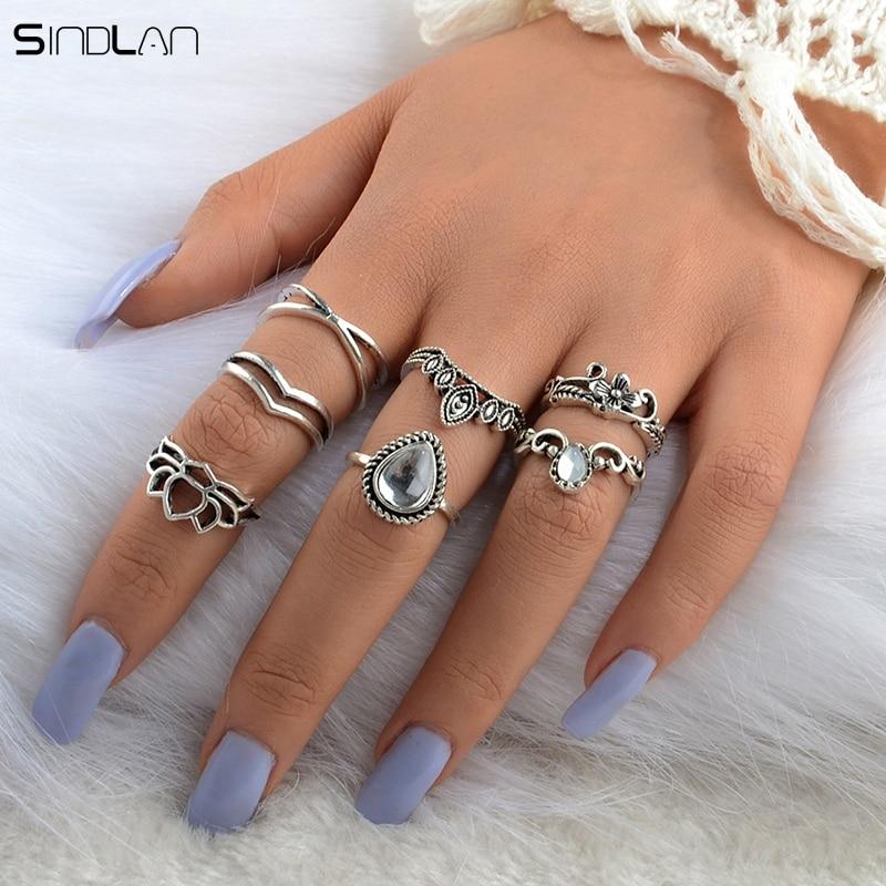 New Fashion Bohemian Pernikahan Perhiasan 7 pcs / Set Besar Tetes - Perhiasan fashion - Foto 3