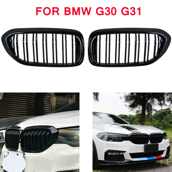 front bumper grill for BMW 5 series M5 G31 520i 530i 540i 2-slat black front kidney grille for G30 G31 2016-2019 4-DOOR