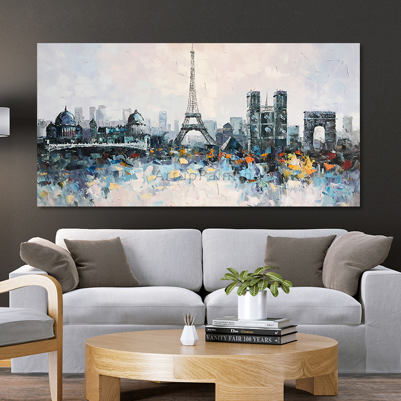 Torre Paris cityscape pintura a óleo Sobre