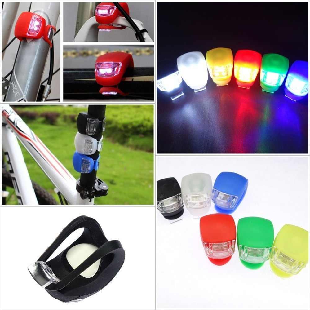 Силиконовый Предупреждение 3 режима велосипедные фары шлем светодиодный фонарик колесо с подсветкой Передний Велосипед Свет Цикл задний фонарь