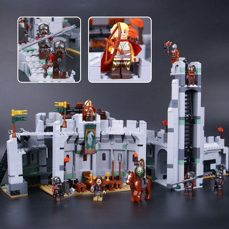 L Models Building toy Compatible with Lego L16013 1368PCS Knight Castle Blocks Toys Hobbies For Boys Girls Model Building Kits castle and knight