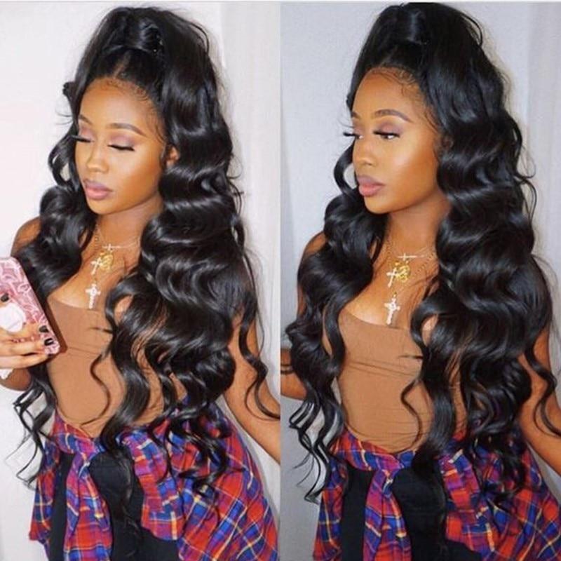 Wonder Girl Loose Wave Brazilian Hair Weave Bundles 3/4 Bundles - Menneskehår (sort) - Foto 2
