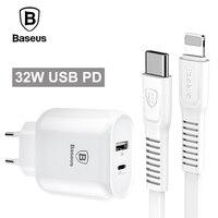 Baseus 32 W Typu C PD Szybkie Ładowanie Ładowarka USB Dla iPhone X 8 Kabel Adapter Z PD Szybkie Ładowanie Ładowarka Do Telefonu Samsung S8 S9