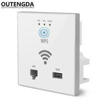 300Mbps in Wand AP WiFi Access Point Wireless Buchse für Hotel Wi-Fi Projekt Unterstützung AC Management & RJ45 USB WPS Verschlüsselung